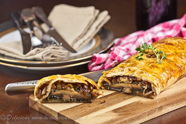 My Mom ( Nana Helen) makes a mean Beef Wellington but I am loving this mushroom version. It is definitely a unique take and I think the heartiness of the mushrooms would make up for the no-meat. Making it a great option!  Mushroom Wellington Recipe #recipes #mushrooms