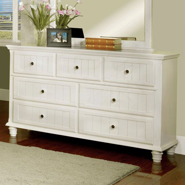 Willow Creek Cottage Style White Finish Bedroom Dresser