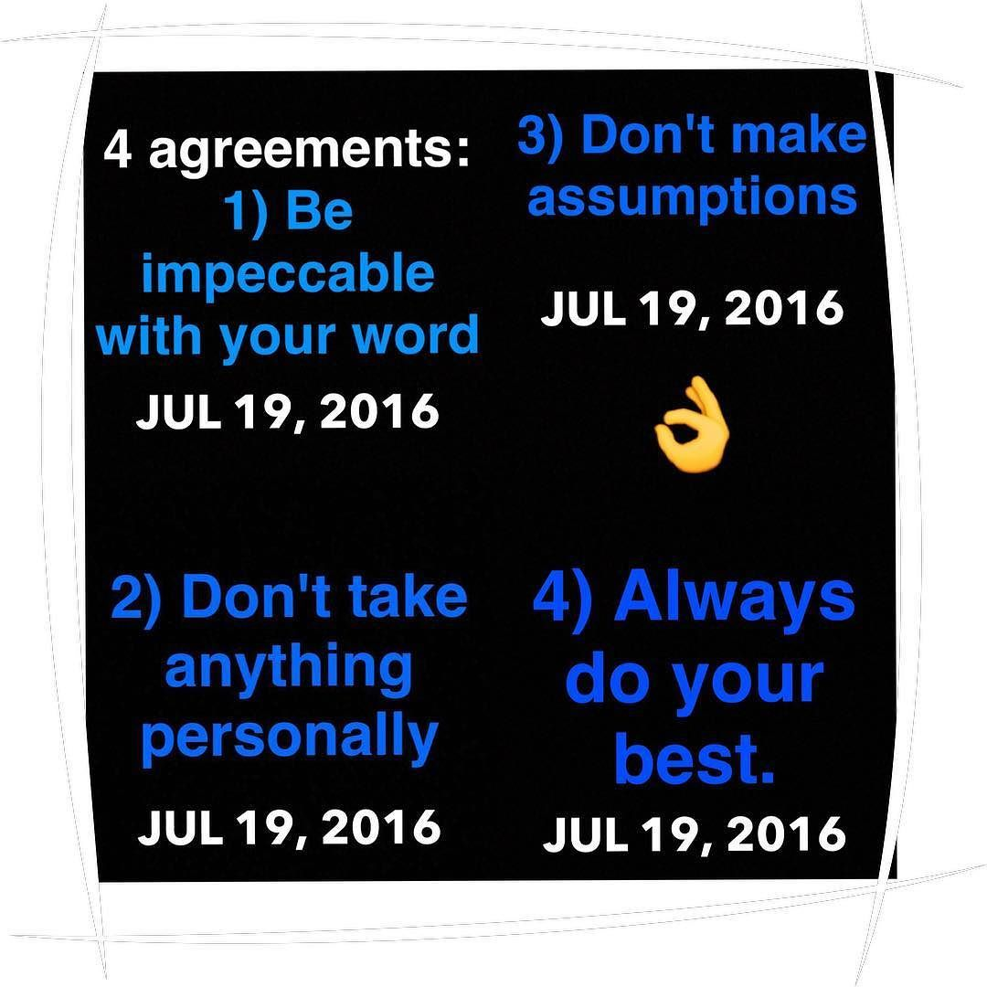 I Was Recommended This Book Called The Four Agreements When I