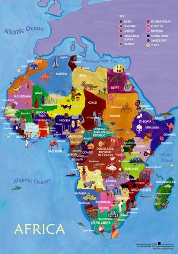 Map of Africa Poster perfect for schools My Style Pinterest
