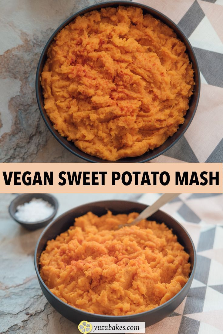 Easy and healthy baked sweet potato mash