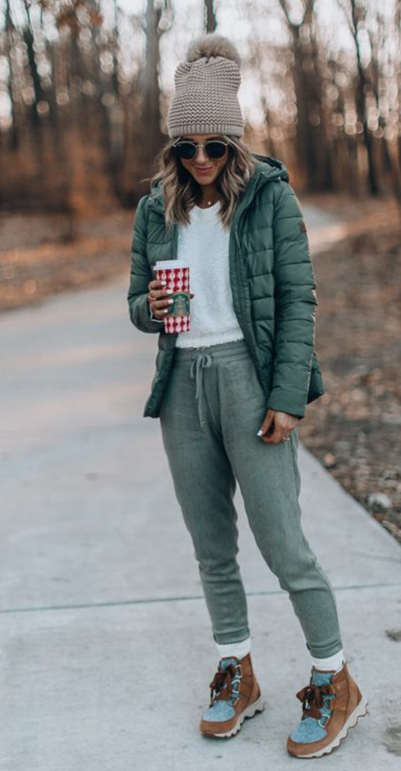 Outfit with mint cardigan, white tee, dark jeans. | Mint