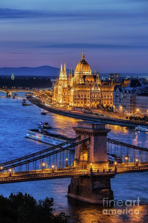 Budapest Photograph - City Of Budapest At Twilight by Artur Bogacki
