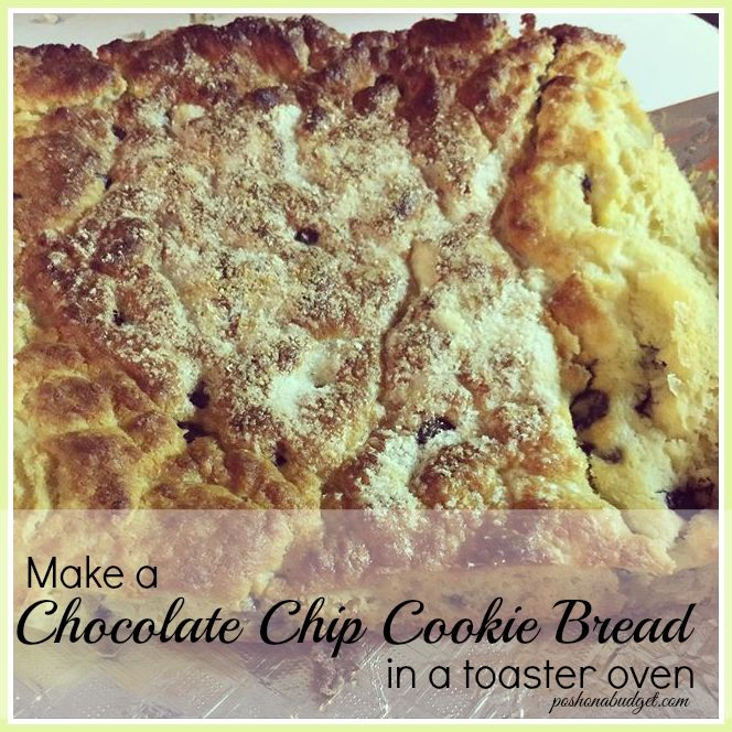 Toaster Oven Sugar Free Chocolate Chip Cookie Bread