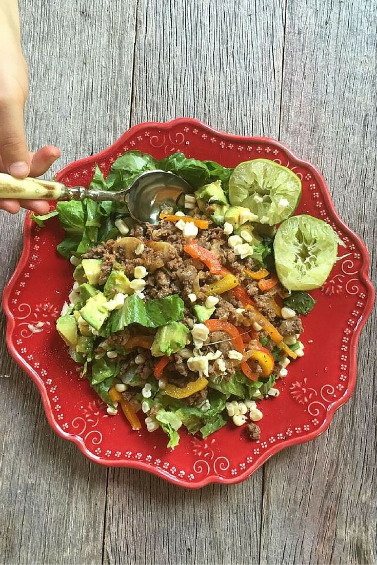 Check out my mouth-watering taco salad recipe! It's healthy, easy-to-make and delicious!