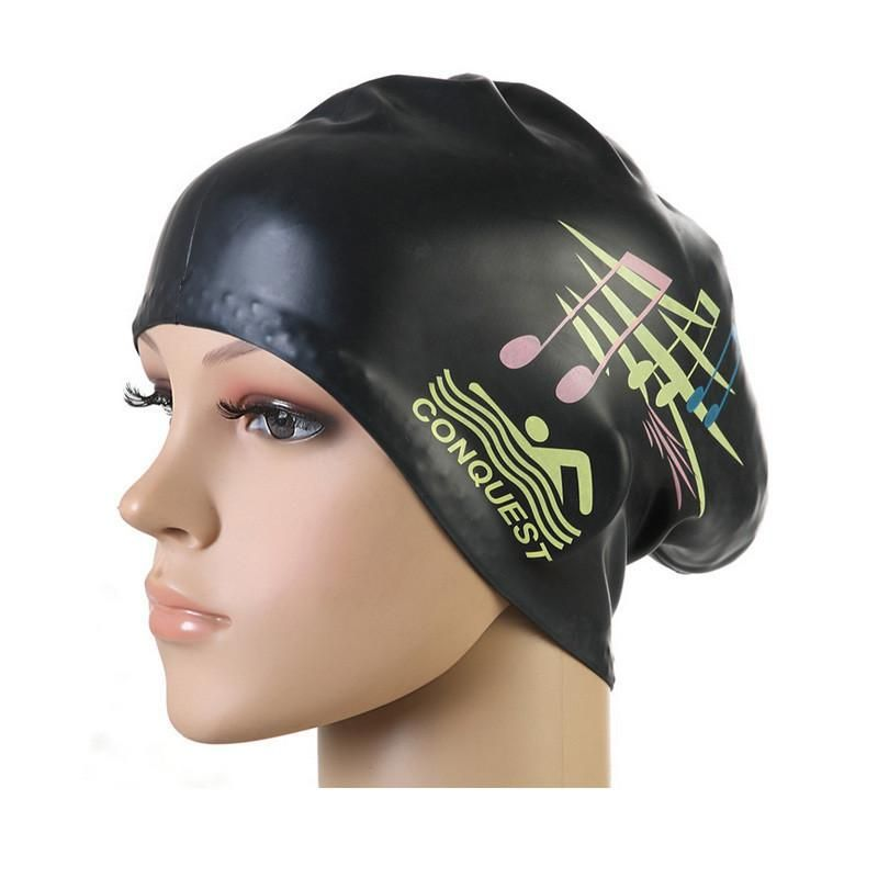 416fd4db86e Gojoy Women swimming caps Silicone Long Hair Girls Waterproof Swimming Cap  swim hat for Lady With Ear Cup Wholesale