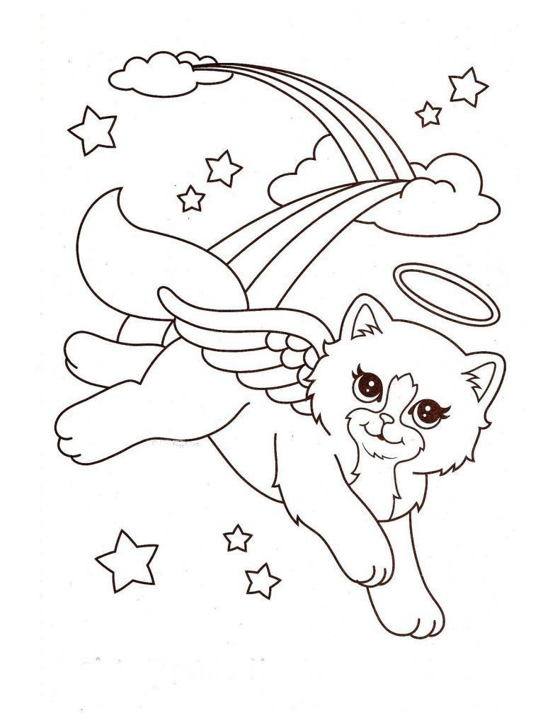 Flying Cat Coloring Page Youngandtae Com Puppy Coloring Pages Kitty Coloring Cat Coloring Book
