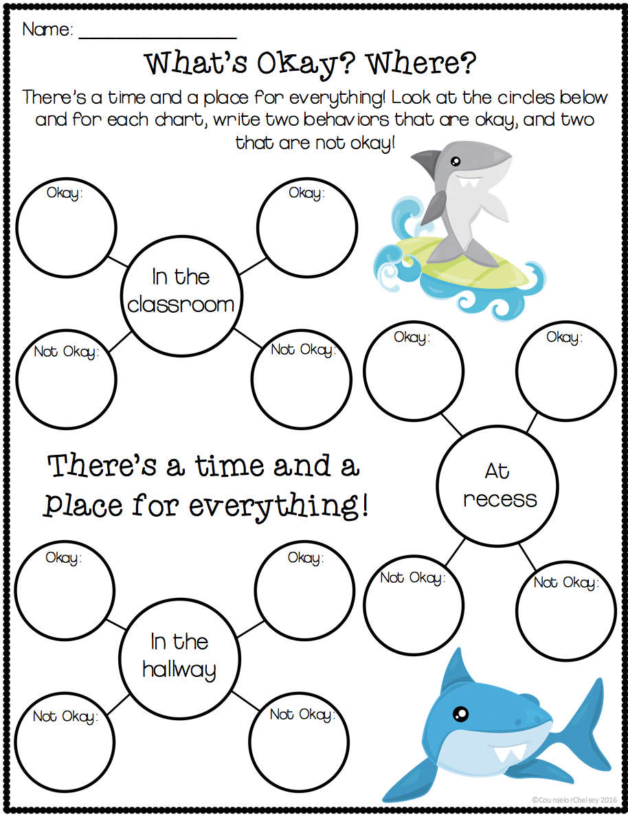 Worksheets Self Control Worksheets self control activities clark the shark clarks and 3 to help kids with are based on book