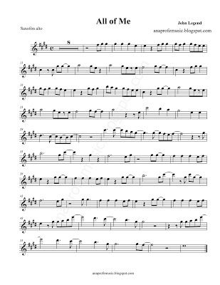 Partitura All Of Me De John Legend Sheet Music Partitura Para