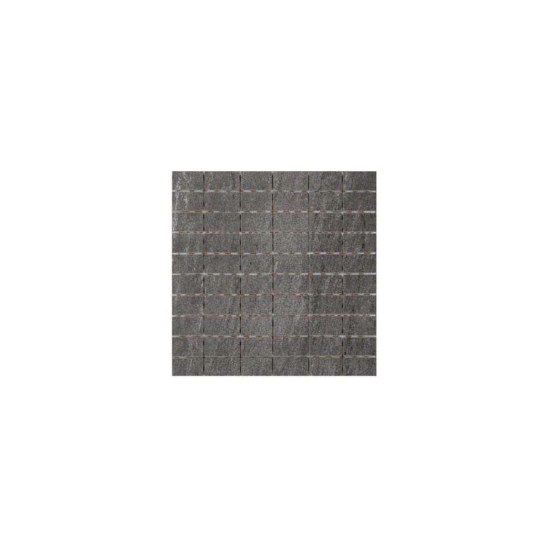 Mosaikfliese Für Die Wand Xcm Anthrazit Feinsteinzeug Kermos - Mosaik fliesen 5x5cm