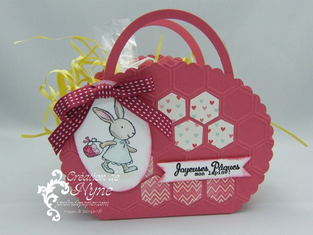 mes lapins stampin up every bunny panier de p ques easter basket ostern su pinterest. Black Bedroom Furniture Sets. Home Design Ideas