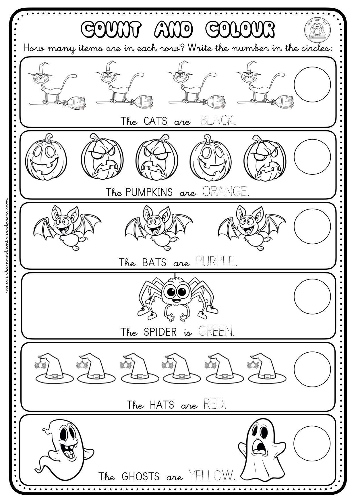 16 Worksheets Halloween 2 Blog