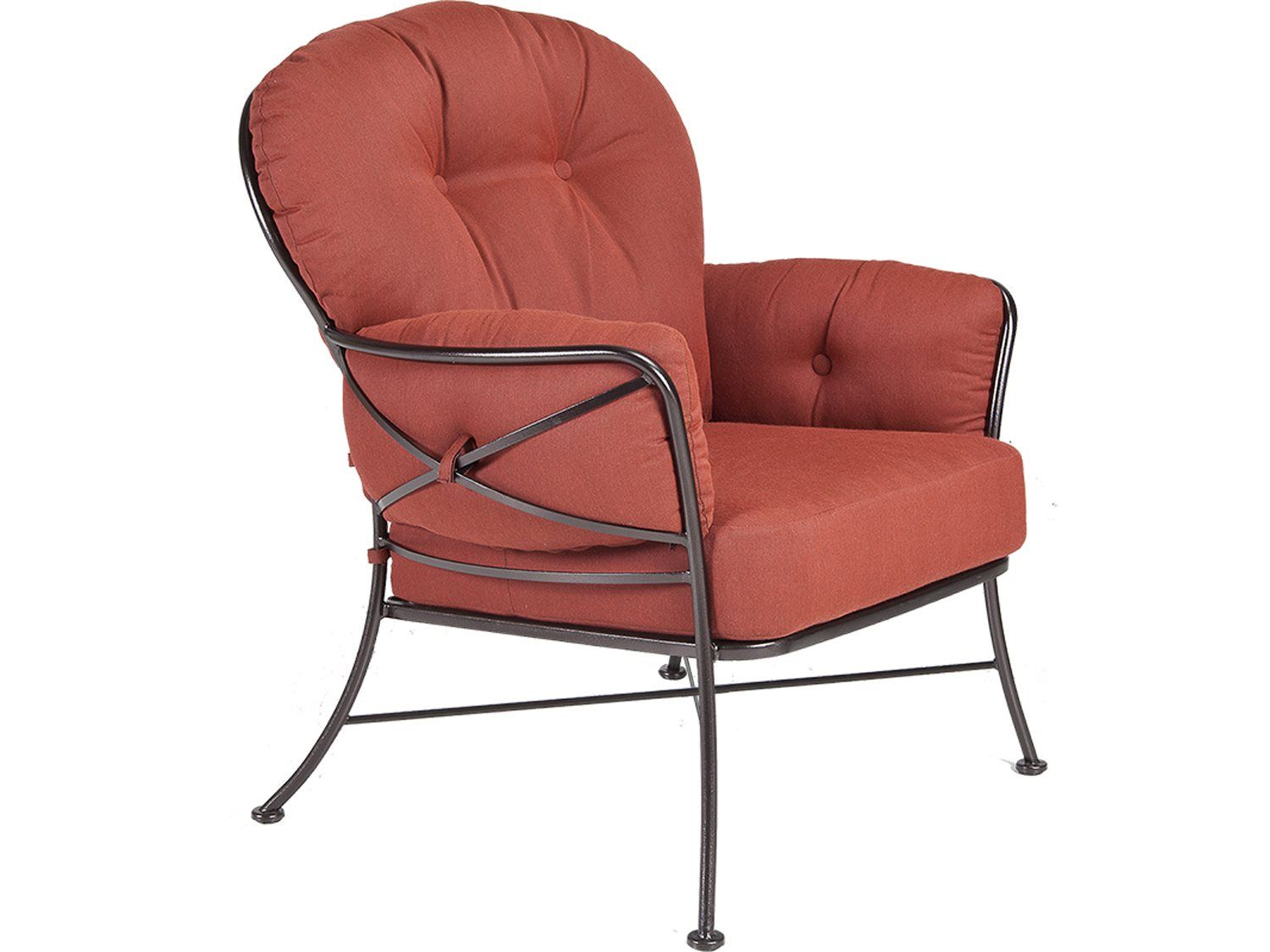 Ow lee cambria wrought iron lounge chair decorate pinterest