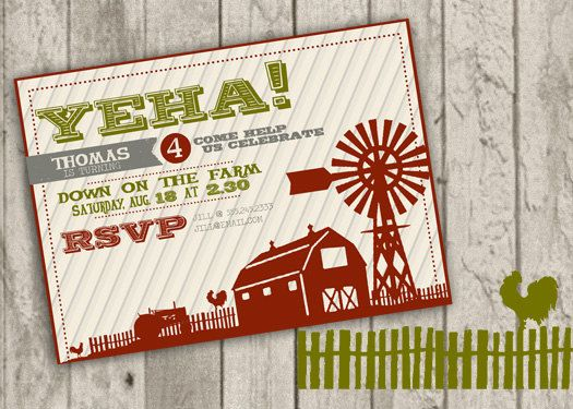Farm Birthday Invitation by jaynesalentiny on Etsy, $15.00 ...