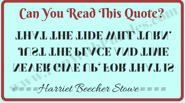 Can You Read Upside Down And Backwards? | Brain Teasers or