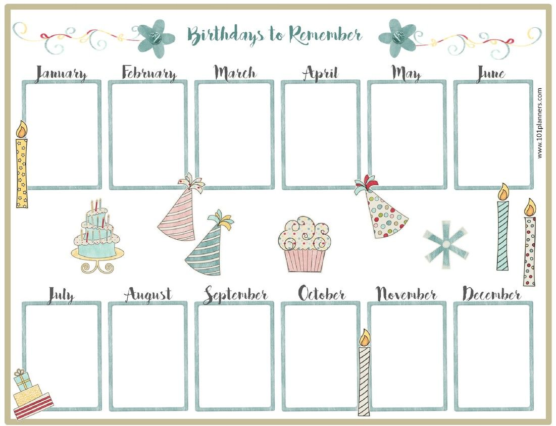 Calendar Template For Kindergarten