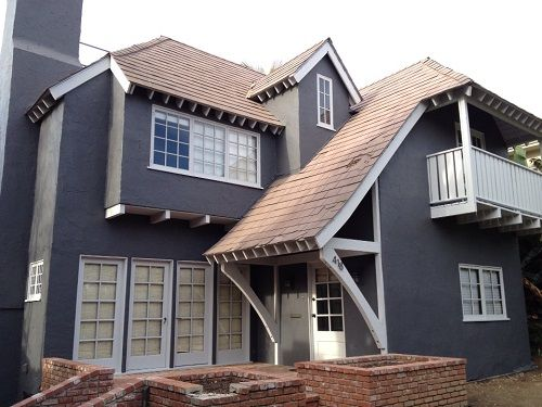 blue gray stucco white trim exterior paint ideasgray
