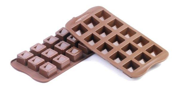 Stampi in silicone per dolci e cioccolatini:cubo!