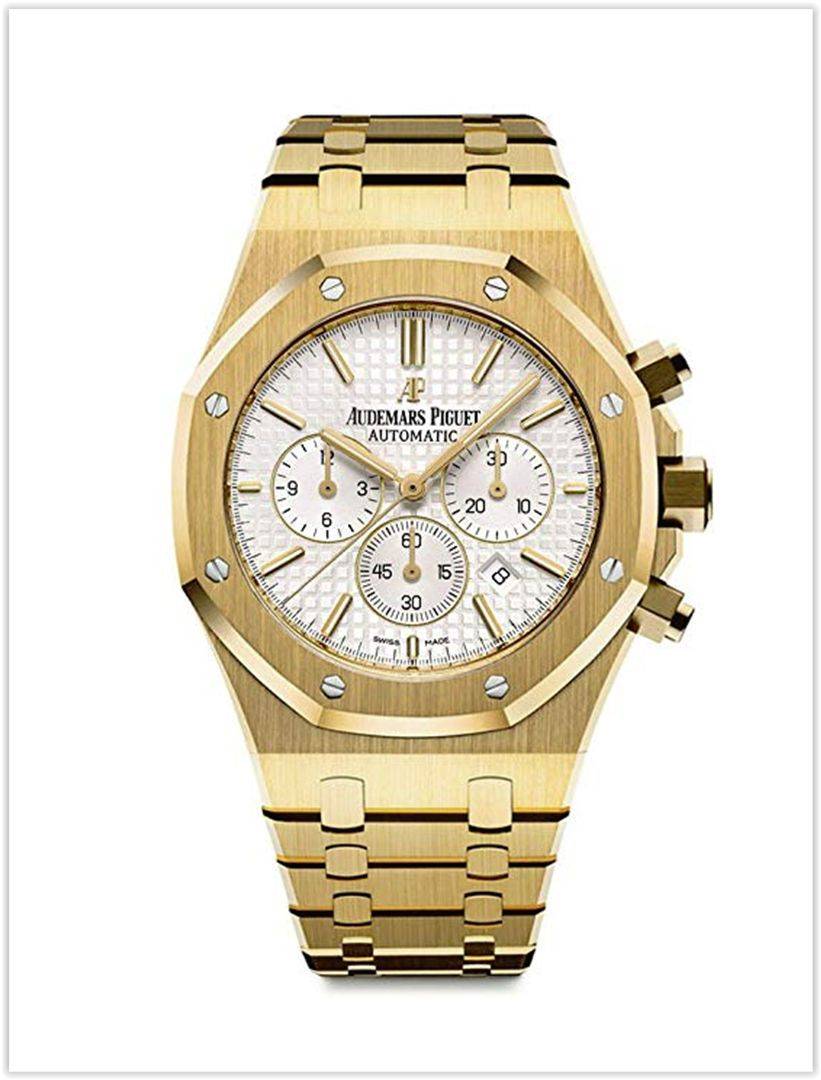8f5c4884d50a Audemars Piguet Royal Oak Chronograph 41mm Yellow Gold White Dial Men s Watch  price