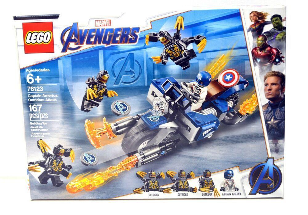 LEGO 76123 Marvel Avengers Endgame Captain America Outriders Attack Box Set NEW