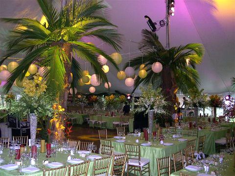Palm Tree Reception Decoration Love It