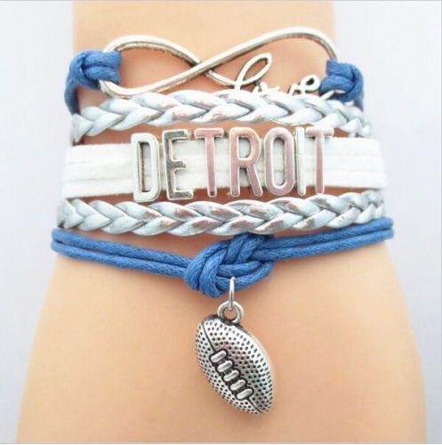 94842ef9 Bracelet {Detroit Lions} Football | stacyspinkmartiniboutique.com ...