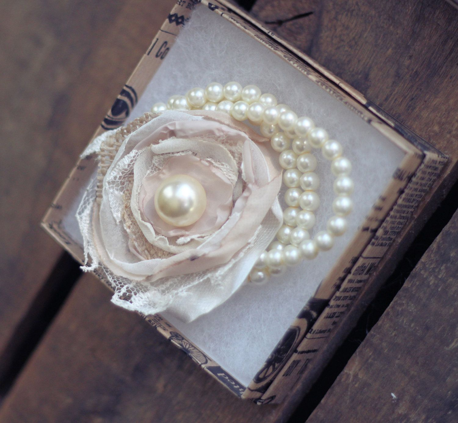 Custom Mother Of The Bride Or Maid Of Honor Vintage Pearl