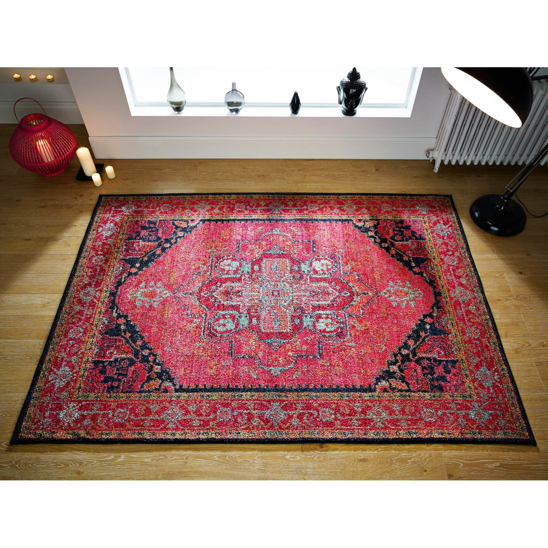 Brook Lane Rugs Kaleidoscope Pink Area Rug Pink rug