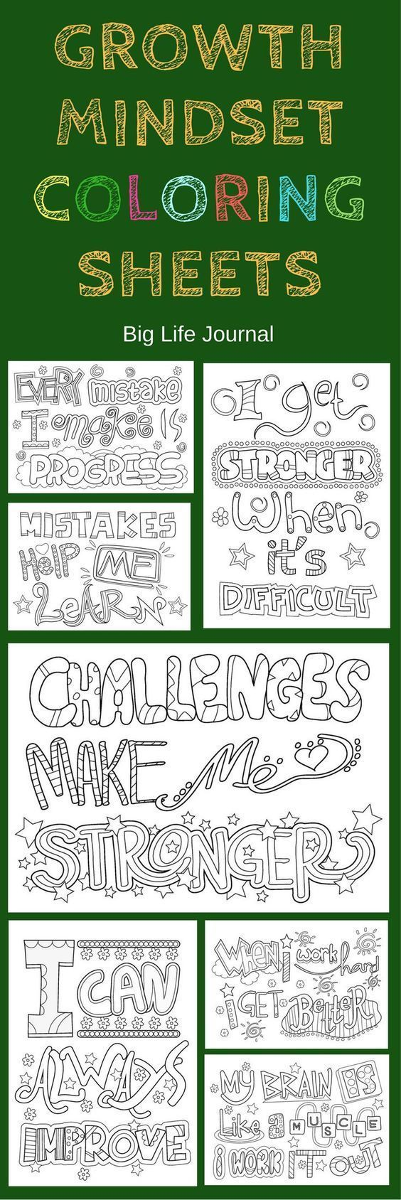 ED: Growth mindset colouring sheets #growth #mindset #colour #color ...