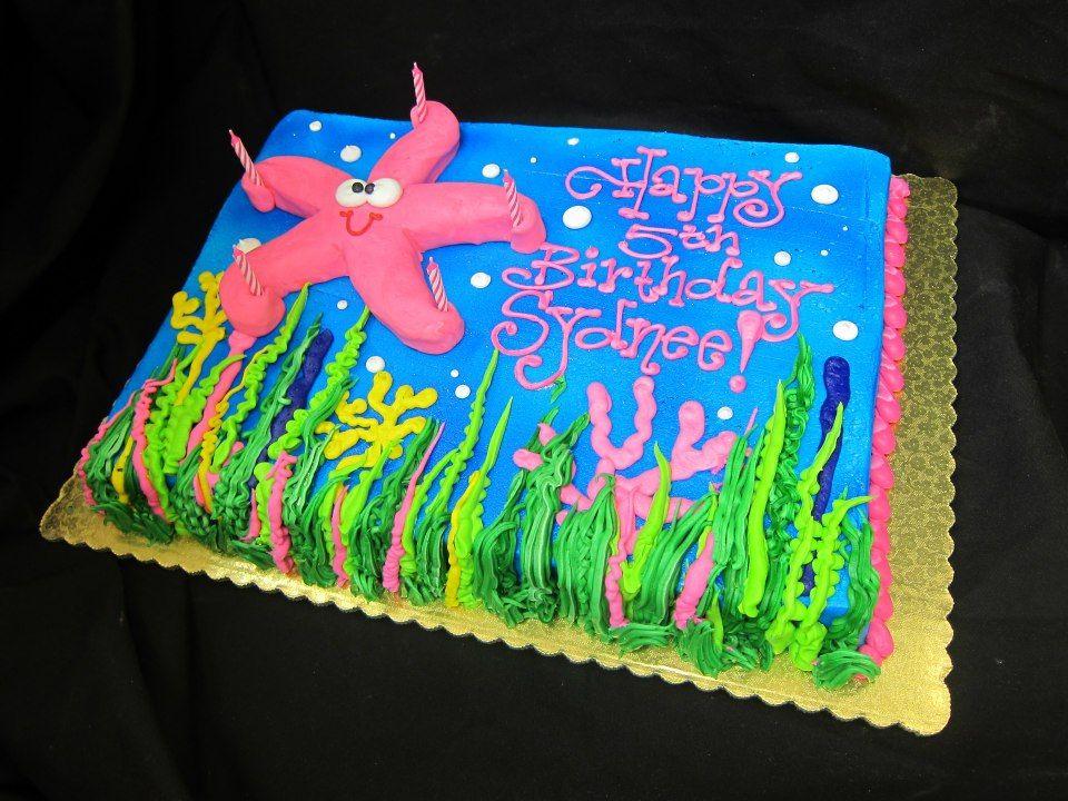 Starfish Birthday Cake by Stephanie Dillon LS1 HyVee Bakery