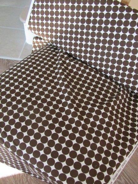 Robert Kaufmann Groove weiß braune Punkte 0,5 m von DriemeS! auf DaWanda.com