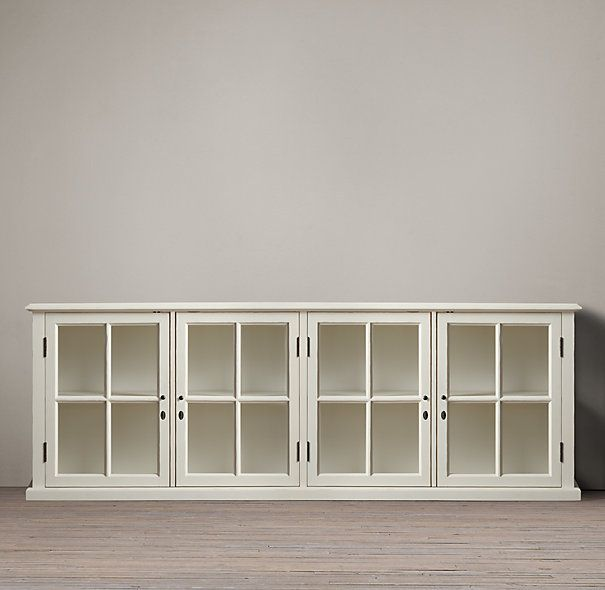 Incroyable Hampton Casement Low Glass Cabinet | Restoration Hardware   Would Looke  Great For The LR Re Do That I Am Planning.
