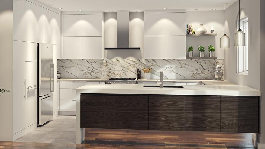 Armoires de cuisine Moderne Outremont   Cuisine - Kitchen ...