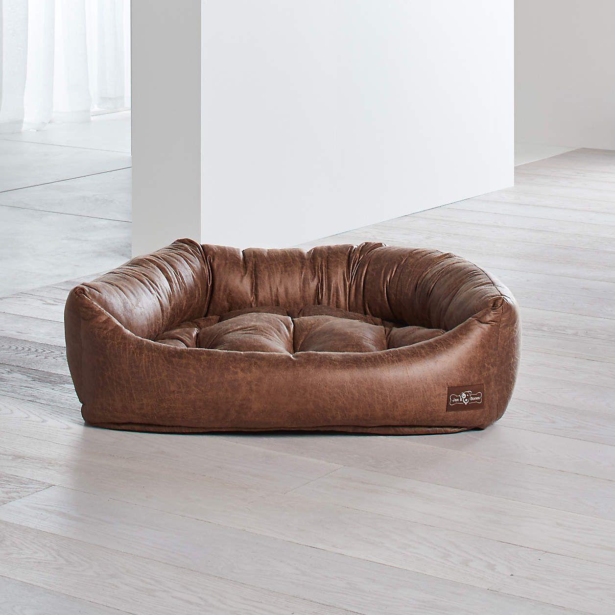 Napper Faux Leather Vintage Large Dog Bed Reviews Crate And Barrel Dog Bed Large Leather Dog Bed Dog Bed