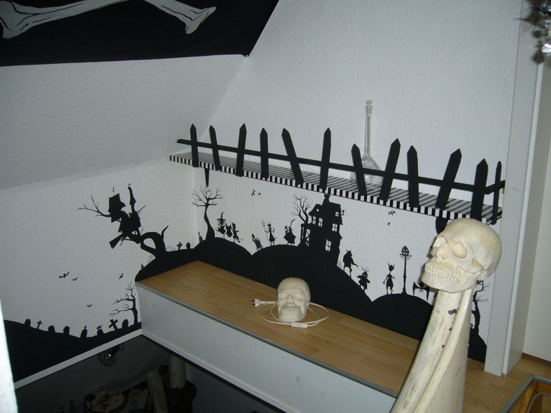 Nightmare Before Christmas Wall Painting   HOME SWEET HOME   Hi  There,Birdbones Fantastic Barthroom In Burton Style Remember Me That There  Is One Of My ... Great Ideas