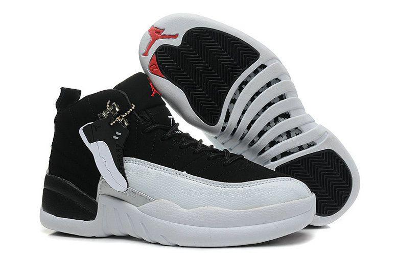 Authentic Air Jordan 12 Black White For WoOnline Sale