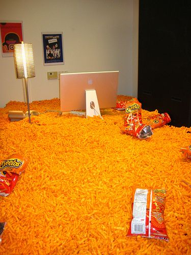 13 Cheetos = 150 calories. Just sayin.