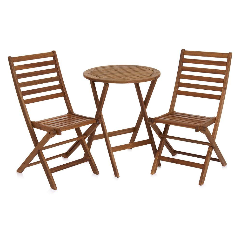 Wilko FSC Wooden Bistro Set  50  Garden FurnitureOutdoor. Wilko FSC Wooden Bistro Set  50   The great outdoors   Pinterest