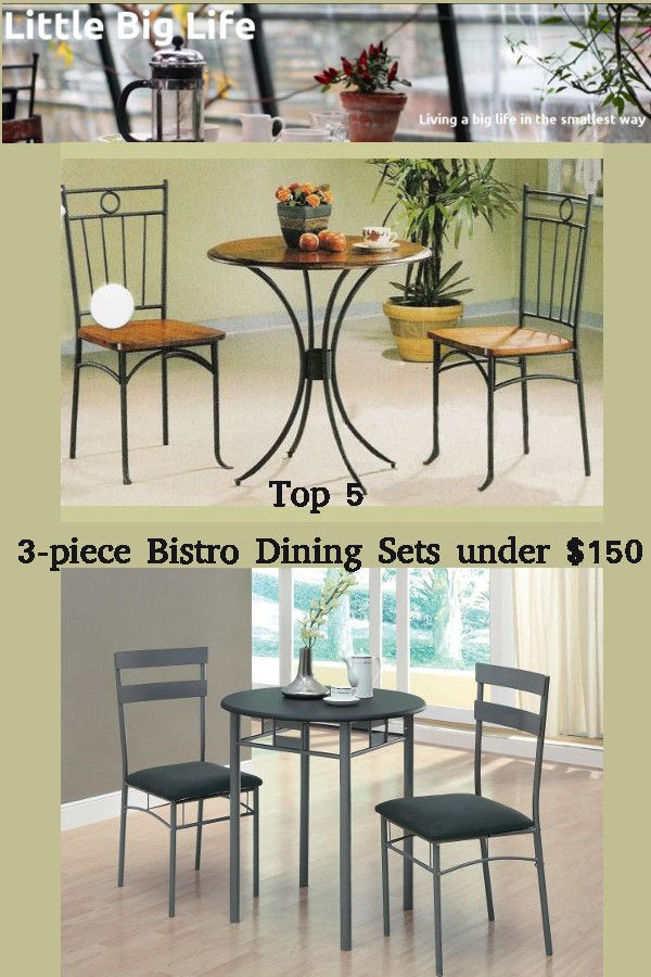 LITTLE BIG LIFE Top 5 3 piece Bistro Dining Sets under ...