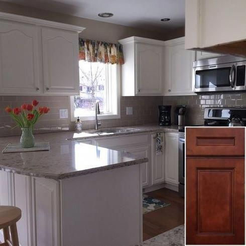 Latest tips on - how to make honey oak cabinets look rustic. #honeyoakcabinets