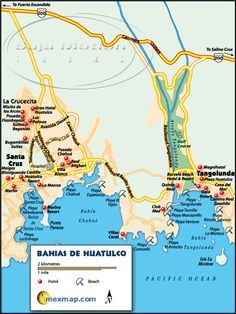 bahias de huatulco map