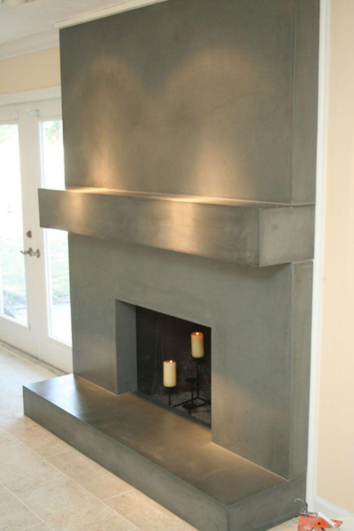 Concrete Fireplace Surround Fireplace Remodel Concrete