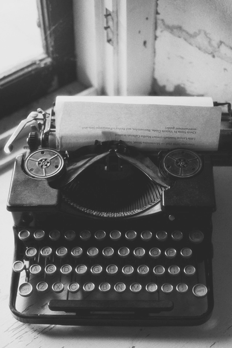 Underwater Black And White Aesthetic Vintage Typewriters Typewriter
