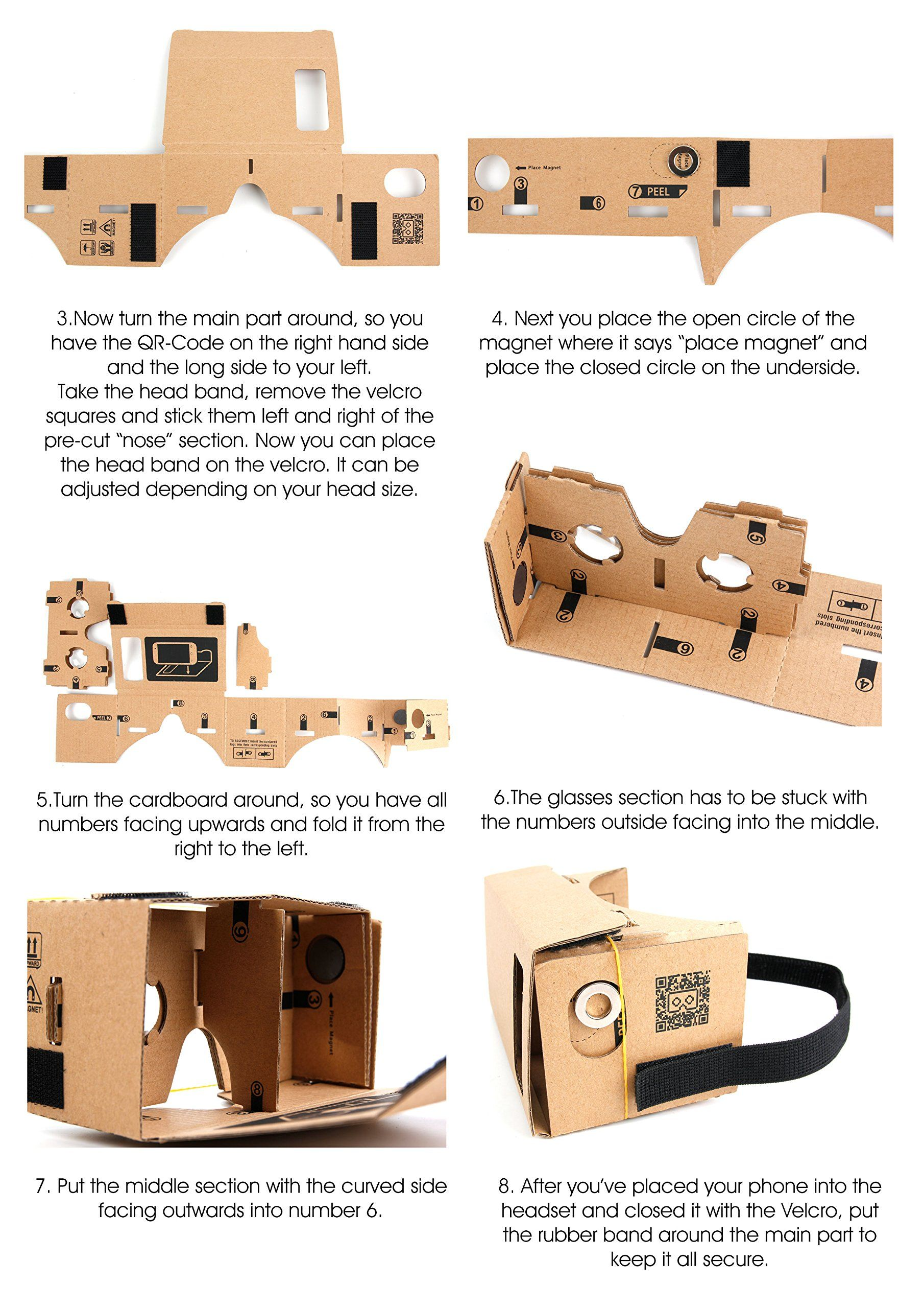 Google Cardboard Virtual Reality Headset Compatible with the