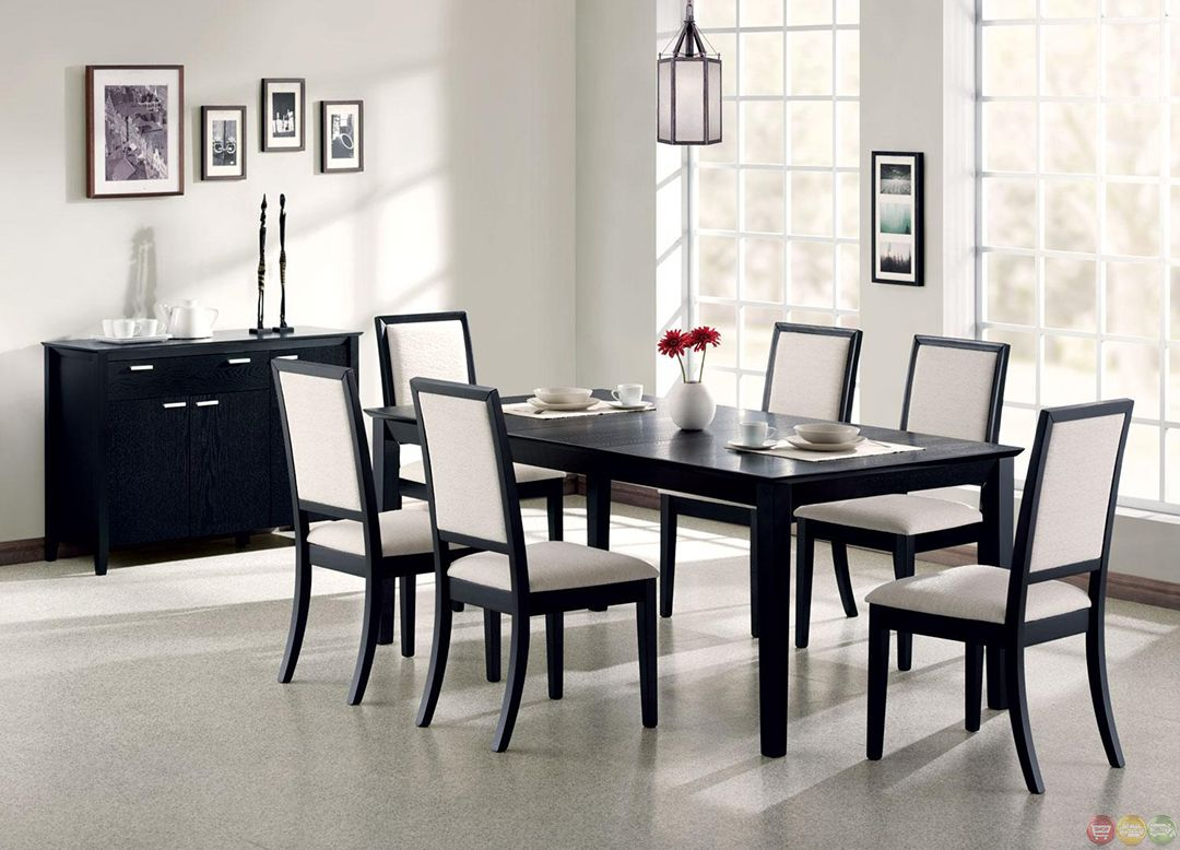 Coaster Lexton Rectangular Dining Table With 18 Inch Leaf In Black   101561
