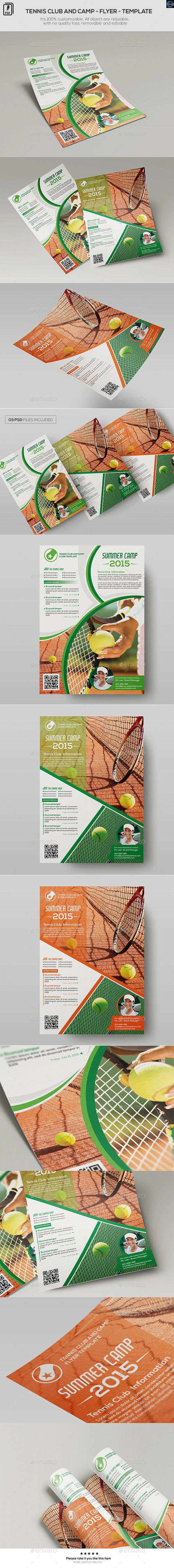 Tennis club and camp flyer template tennis clubs flyer tennis club and camp flyer template fandeluxe Gallery