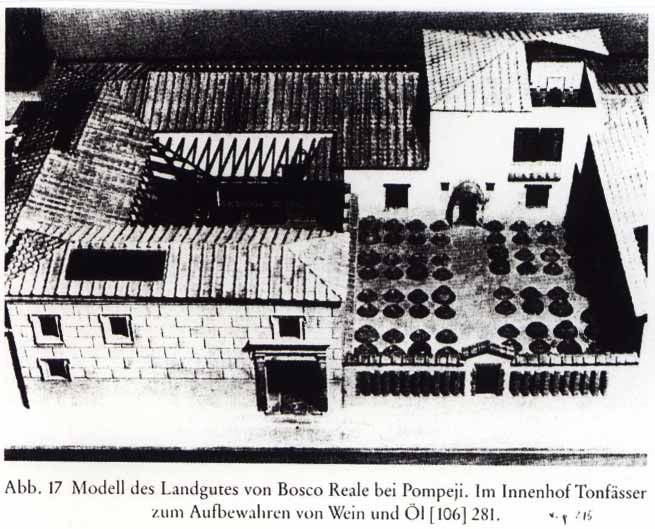 Model based on a villa excavated near Bosco Reale (3 km north of Pompeii)