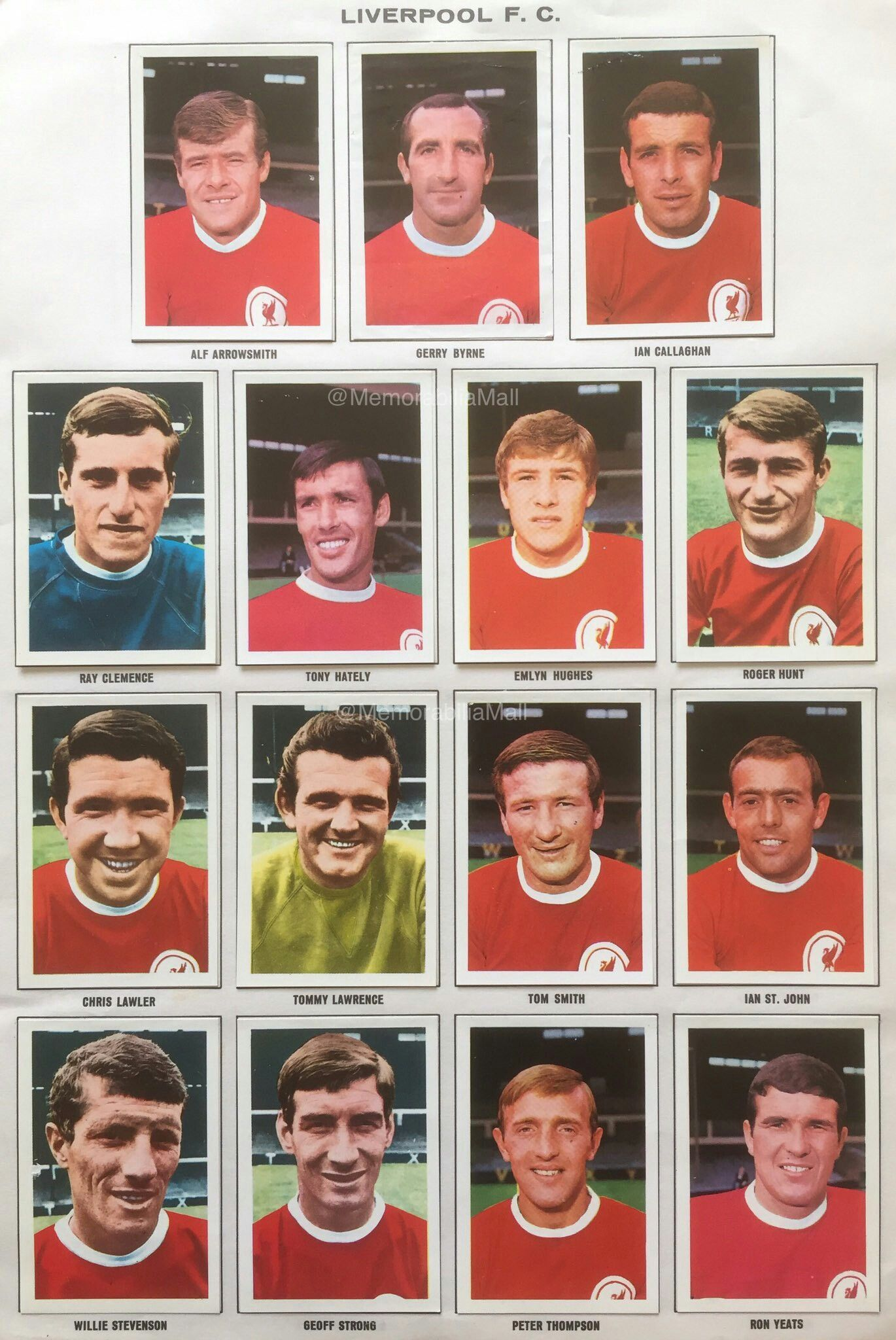 Liverpool stickers for 1967