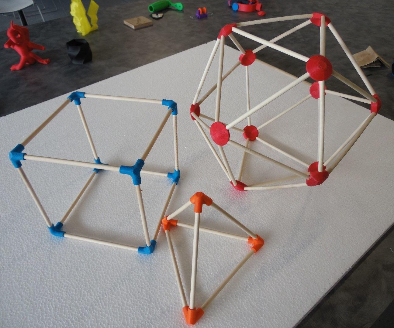 3D Printed Geometry Connectors 3d printing, 3d printing