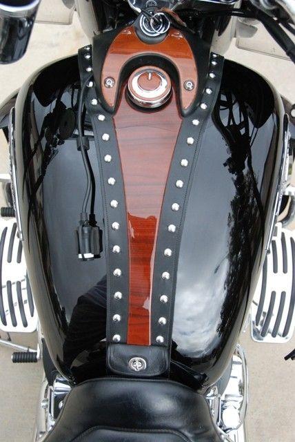Custom Leather Harley Tank Bibs